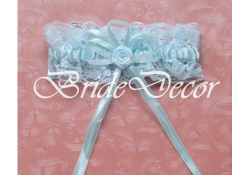 Подвязка невесты «Голубая роза»